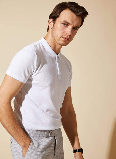 DeFacto Basic Polo T-shirt Beyaz